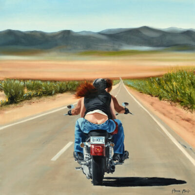 Hold On Loosely Biker Art By Anna Meijn 2017