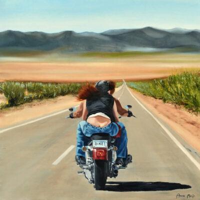 Hold On Loosely Biker Art By Anna Meijn 2017