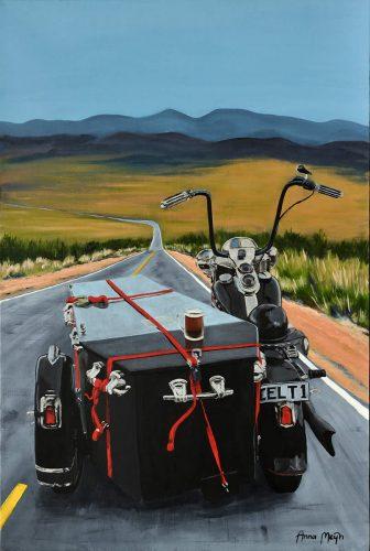 Roll Me Away Biker Art By Anna Meijn 2017