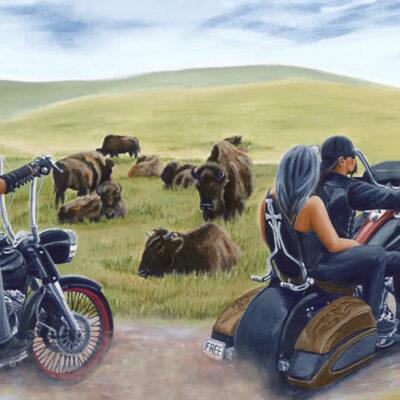 Running Free Biker Art By Anna Meijn 2017
