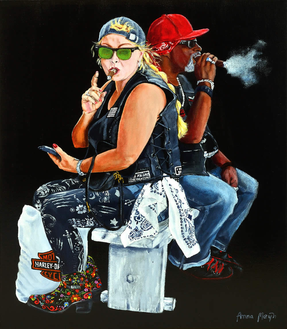 Smokin Biker Art By Anna Meijn 2017