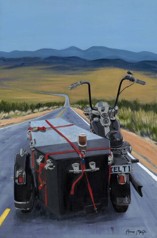Roll Me Away Biker Art By Anna Meijn 2017 Dragontrail