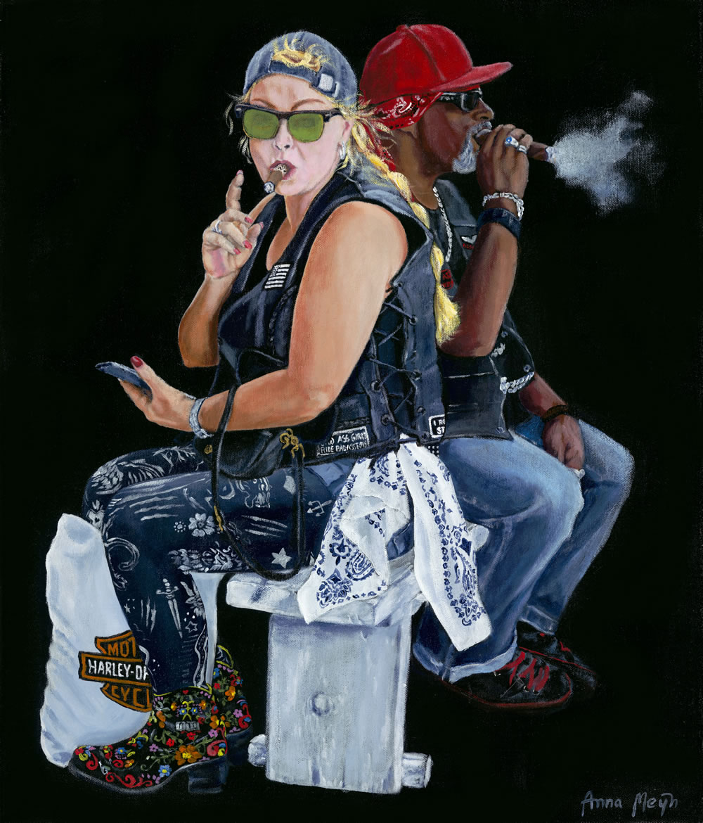 Smokin Biker Art By Anna Meijn 2017 Dragontrail