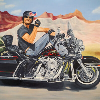 Freedom Rider Biker Art By Anna Meijn 1000px