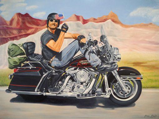 Freedom Rider Biker Art By Anna Meijn 1000px
