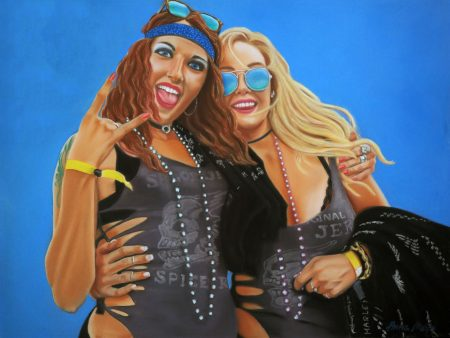'We Rock' - Pastel on board (framed) - 18 x 24 in - 46 x 61 cm